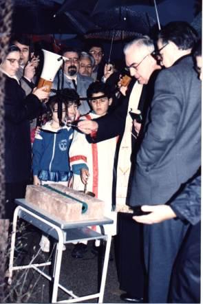 Scuola Gritti prima pietra via Manzoni 1989-90